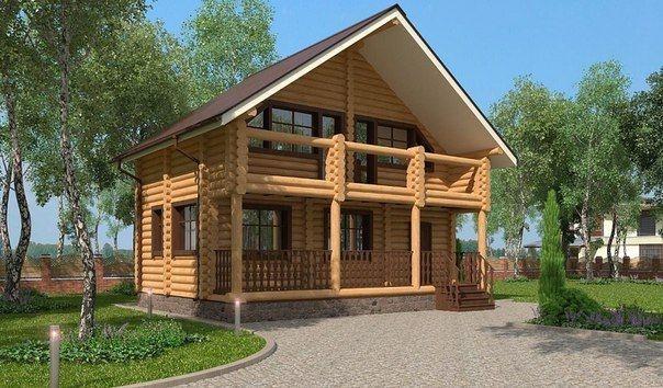 """Проект дома """"Регинхильд"""", оцилиндрованное бревно, 54 кв.м."""