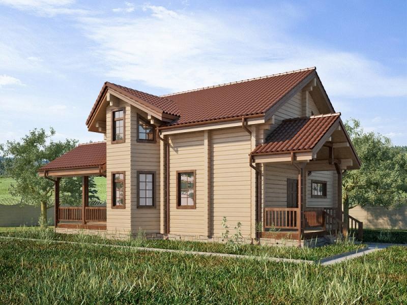 """Проект дома """"Полит"""", профилированный брус, 280 кв.м."""
