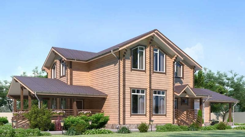 "Проект дома ""508-8"", брус камерной сушки, 215 кв.м."