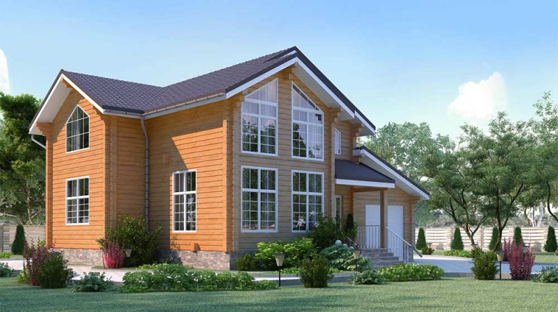 "Проект дома ""511-8"", брус камерной сушки, 149 кв.м."