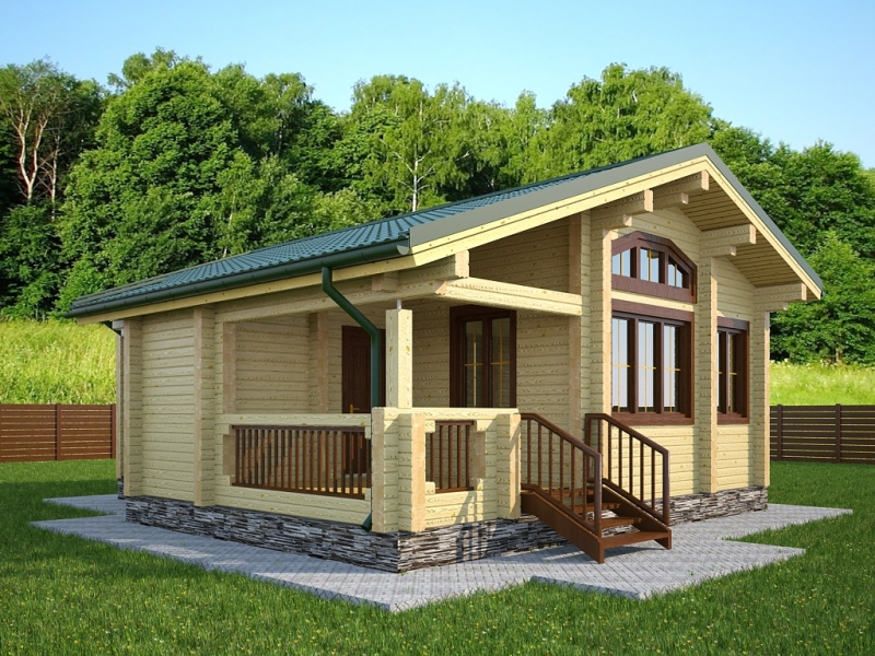 """Проект дома """"Бадана"""", профилированный брус, 72 кв.м."""