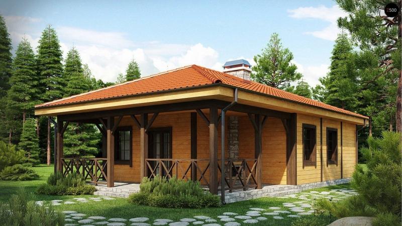 """Проект дома """"Болсовер"""", профилированный брус, 117 кв.м."""