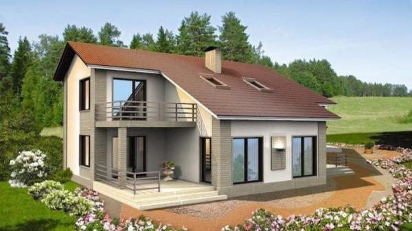 """Проект дома """"Эвелин"""", профилированный брус, 450 кв.м."""