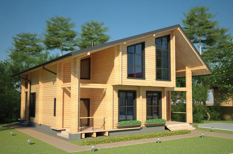 """Проект дома """"Джеральдина"""", профилированный брус, 159.45 кв.м."""