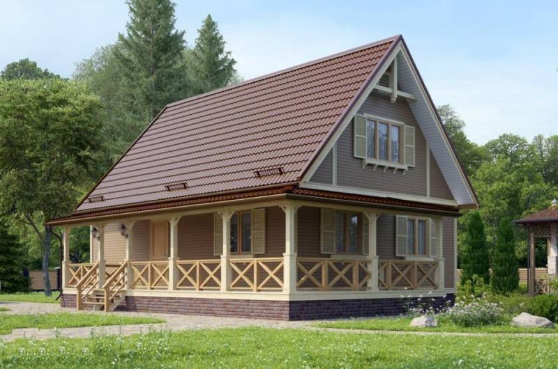 """Проект дома """"Изида"""", профилированный брус, 140 кв.м."""