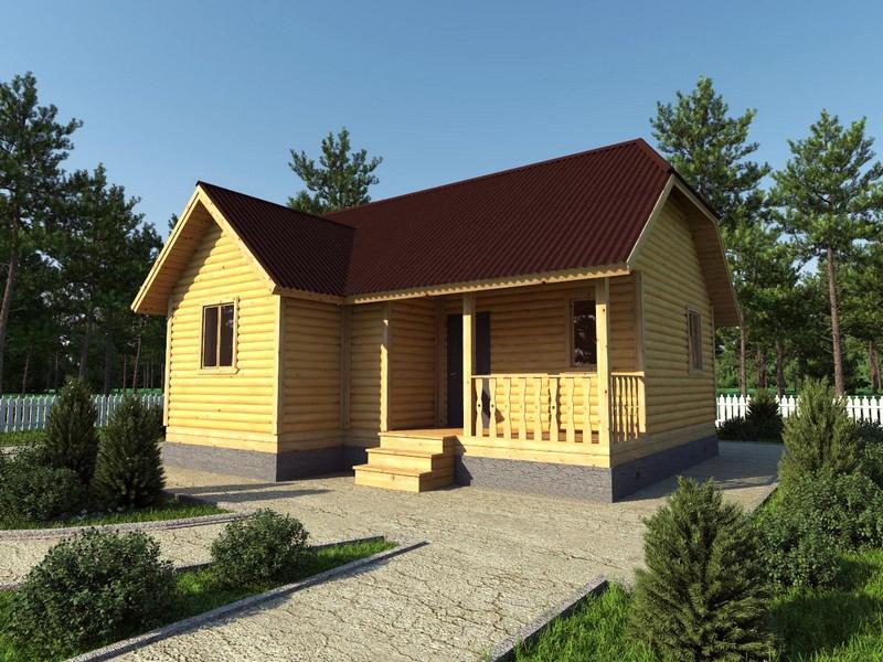 """Проект дома """"Ника"""", профилированный брус, 55.9 кв.м."""