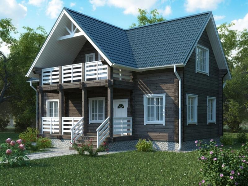"""Проект дома """"Эдуарда"""", профилированный брус, 84 кв.м."""