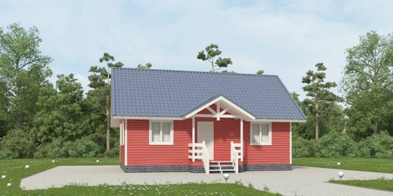 """Проект дома """"Сцилла"""", профилированный брус, 65.28 кв.м."""