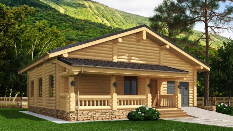 """Дом из оцилиндрованного бревна """"Проект 577-8"""", 95 кв.м."""