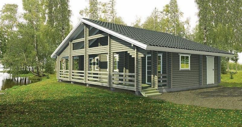 """Проект дома """"БД-241"""", профилированный брус, 123.6 кв.м."""