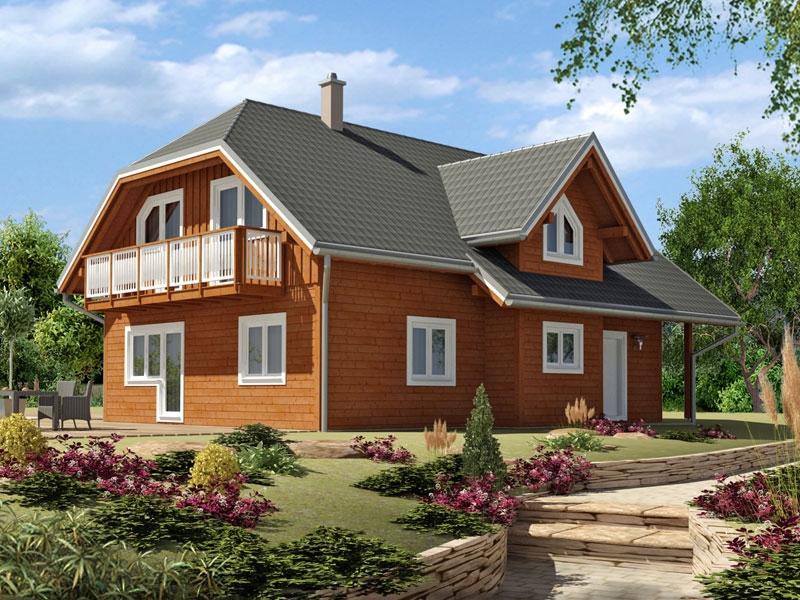 """Проект дома """"Гульнара"""", профилированный брус, 176.1 кв.м."""