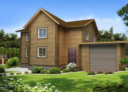 """Проект дома """"Фабиола"""", профилированный брус, 234 кв.м."""