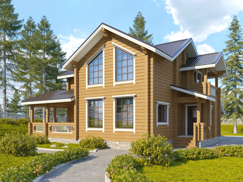 """Проект дома """"Пафури"""", профилированный брус, 288 кв.м."""