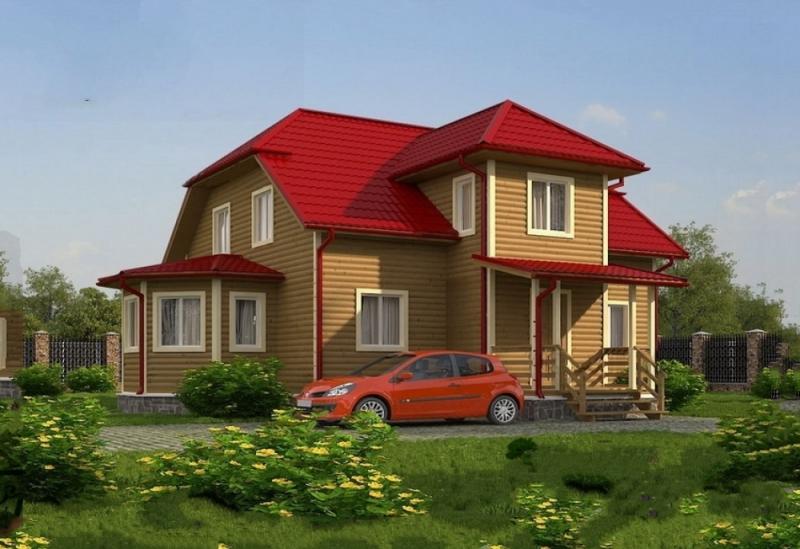 """Проект дома """"БД-276"""", профилированный брус, 242 кв.м."""