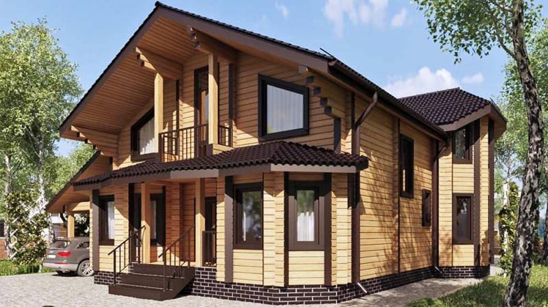 "Проект дома ""504-8"", брус камерной сушки, 216 кв.м."