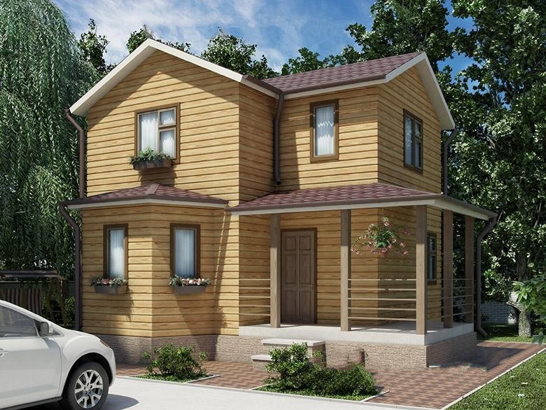 """Проект дома """"Каллисто"""", профилированный брус, 98 кв.м."""