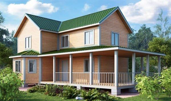 """Проект дома """"БД-125"""", профилированный брус, 168 кв.м."""