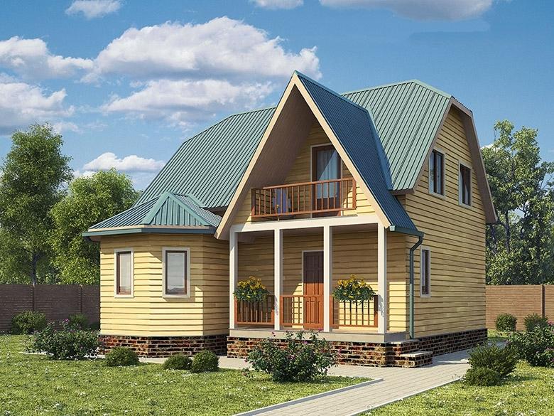 """Проект дома """"Биар"""", профилированный брус, 162 кв.м."""
