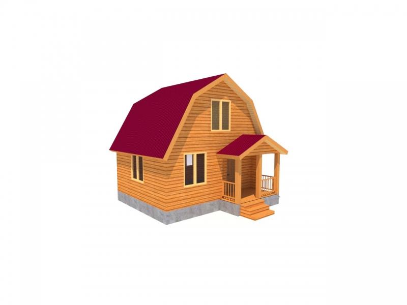 """Проект дома """"Момбаса"""", профилированный брус, 31.9 кв.м."""