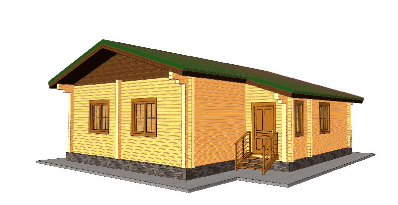 """Проект дома """"Евфросина"""", профилированный брус, 110 кв.м."""