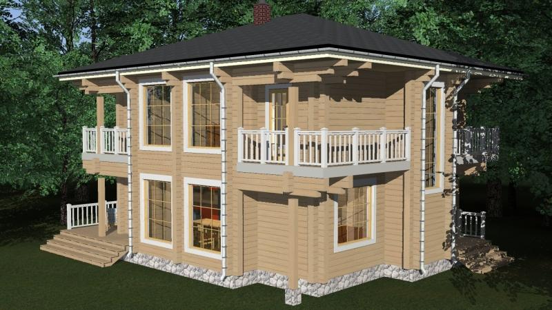 """Проект дома """"Философия"""", профилированный брус, 192 кв.м."""