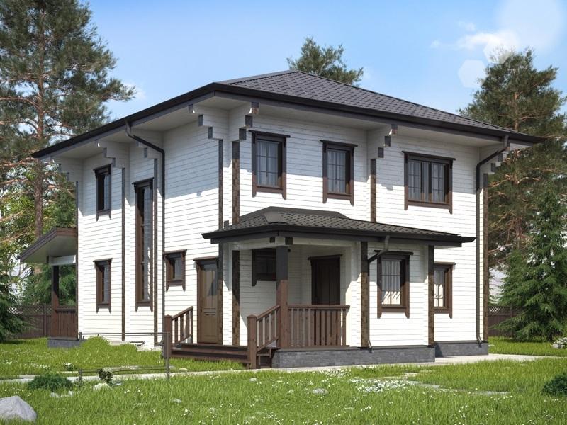 """Проект дома """"Эскалона"""", профилированный брус, 162 кв.м."""