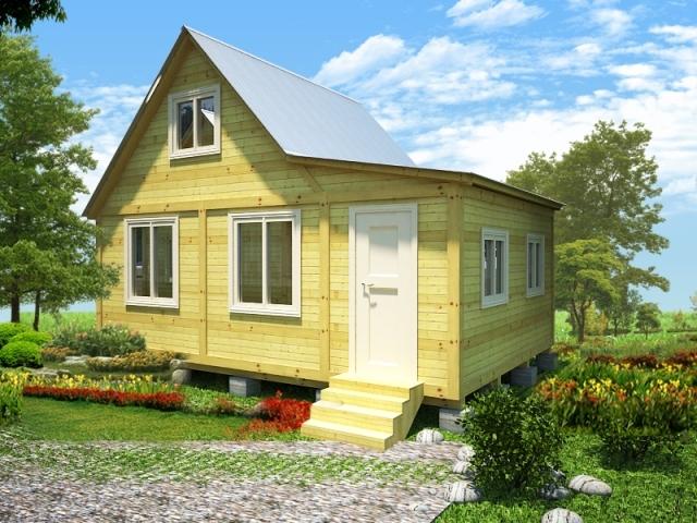 """Проект дома """"Пумма"""", профилированный брус, 25 кв.м."""