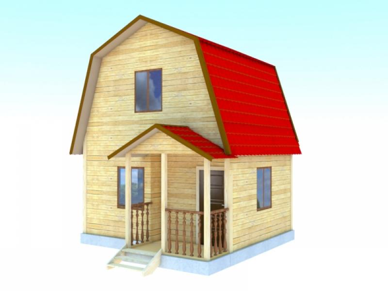 """Проект дома """"Чилтон"""", профилированный брус, 25 кв.м."""