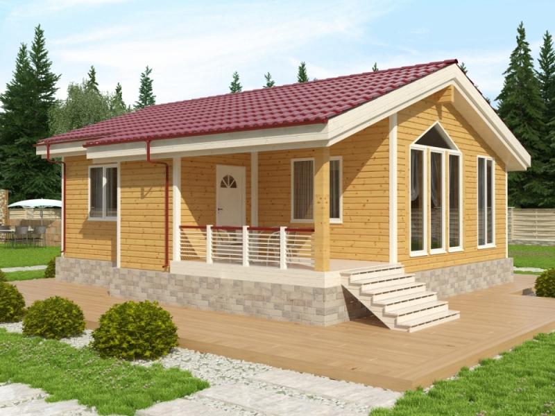 """Проект дома """"Гренландия"""", профилированный брус, 69.92 кв.м."""