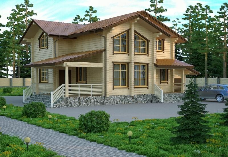 """Проект дома """"Коронида"""", профилированный брус, 260 кв.м."""