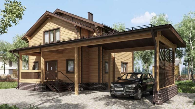 "Проект дома ""514-8"", брус камерной сушки, 176 кв.м."