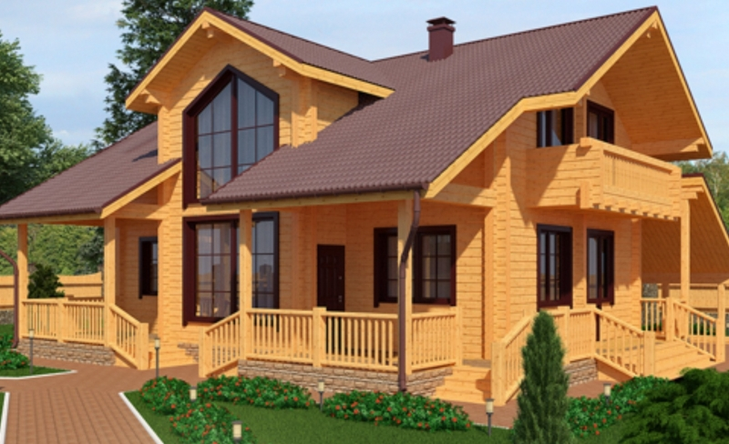 """Проект дома """"Миккели"""", профилированный брус, 152.1 кв.м."""