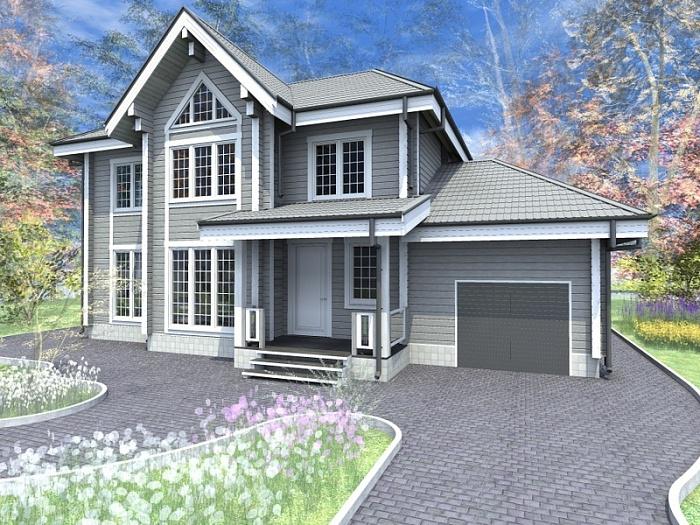 """Проект дома """"Арлон"""", профилированный брус, 200 кв.м."""