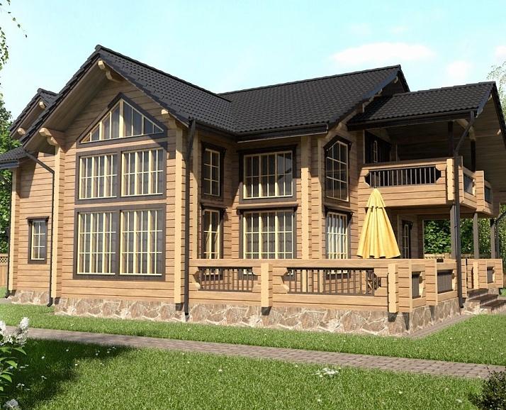"Проект дома ""502-8"", брус камерной сушки, 250 кв.м."