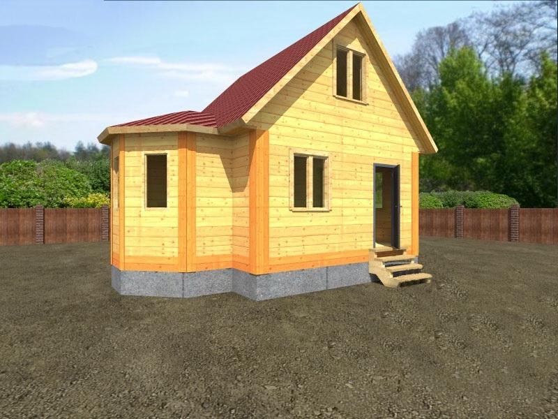 """Проект дома """"Бове"""", профилированный брус, 41.35 кв.м."""