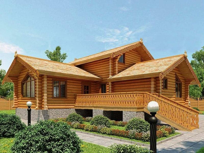 """Проект дома """"Проект ОБД-192"""", оцилиндрованное бревно, 144 кв.м."""