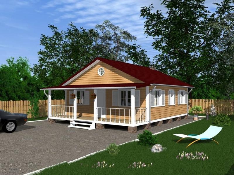 """Проект дома """"Ароза"""", профилированный брус, 80 кв.м."""