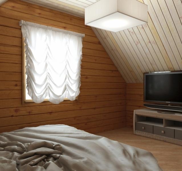 """Проект дома """"Бета"""", профилированный брус, 69 кв.м."""