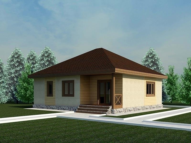 """Проект дома """"Галатея"""", профилированный брус, 121 кв.м."""