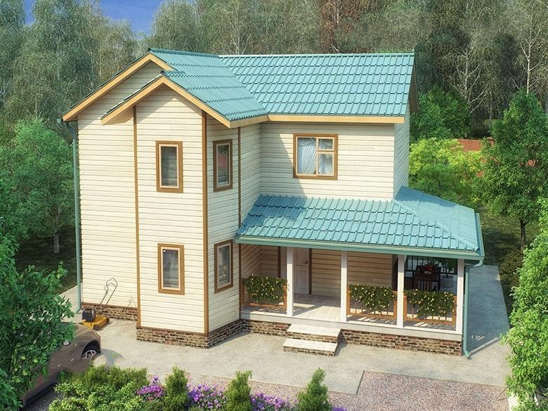 """Проект дома """"Рабе"""", профилированный брус, 220 кв.м."""
