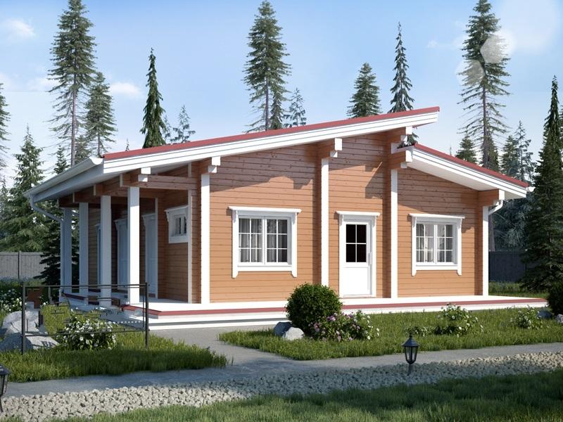 """Проект дома """"Фрагария"""", профилированный брус, 117 кв.м."""