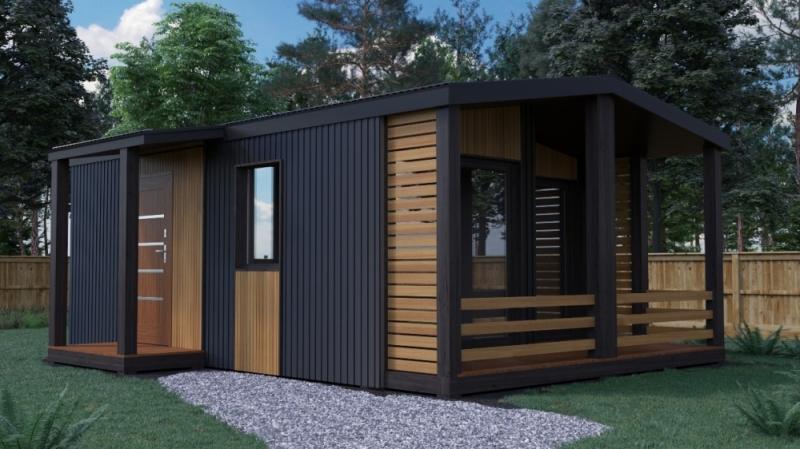 """Проект дома """"Октавия"""", профилированный брус, 40 кв.м."""