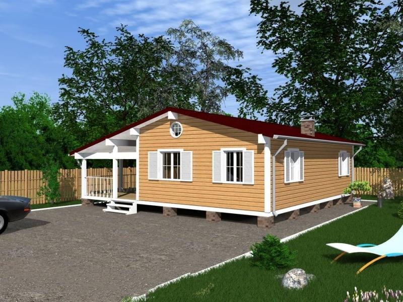 """Проект дома """"Халтия"""", профилированный брус, 100 кв.м."""