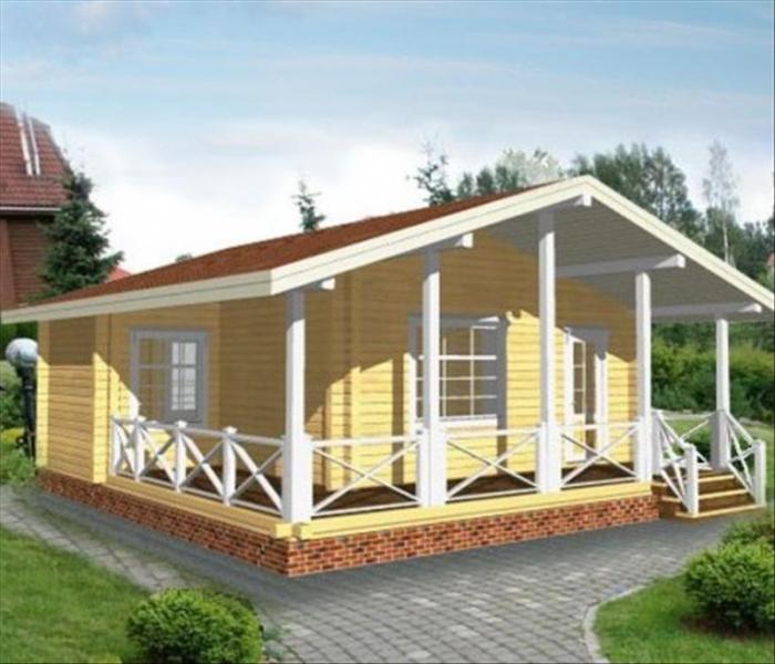 """Проект дома """"Хавьер"""", профилированный брус, 45.9 кв.м."""