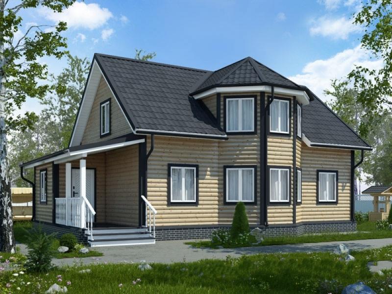 """Проект дома """"Пенлева"""", профилированный брус, 84 кв.м."""