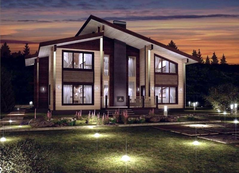 """Проект дома """"Эрифила"""", профилированный брус, 450 кв.м."""