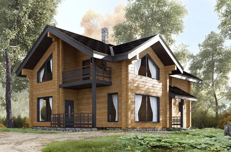 """Проект дома """"Аэнна"""", профилированный брус, 108 кв.м."""