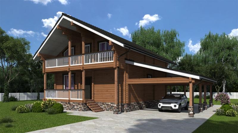 "Проект дома ""513-8"", брус камерной сушки, 183 кв.м."