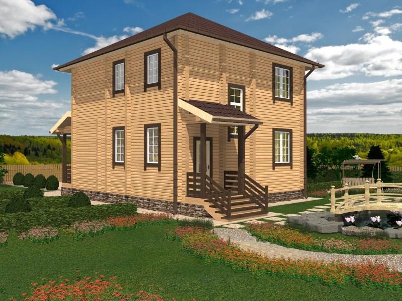 """Проект дома """"Веймар"""", профилированный брус, 176 кв.м."""
