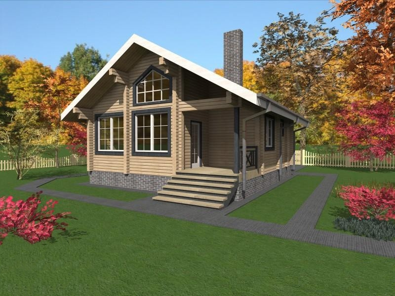 """Проект дома """"Сабина"""", профилированный брус, 99 кв.м."""